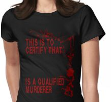 PHD In Murderology Womens Fitted T-Shirt