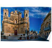 Gharb Parish Church Gozo Poster