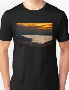 Sunset over a lake of clouds - Prespes Unisex T-Shirt