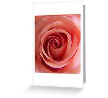 Peach Swirls  Greeting Card