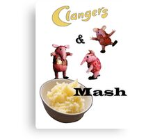 Clangers and Mash Canvas Print