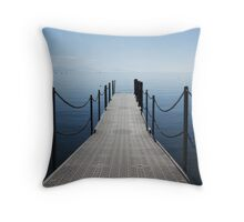 blue, nothing but blue Throw Pillow
