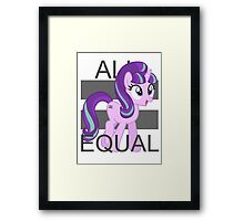 All Equal - Starlight Glimmer Framed Print