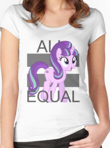 All Equal - Starlight Glimmer Women's Fitted Scoop T-Shirt