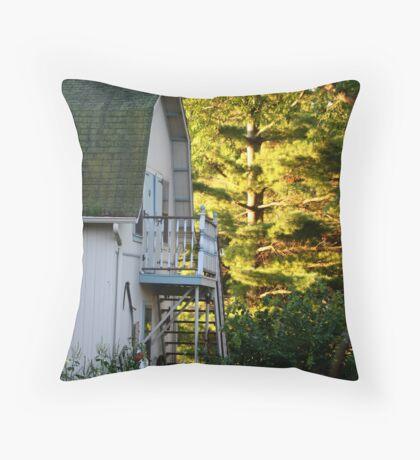 Golden Pine Throw Pillow