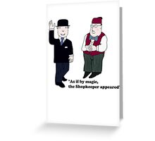 Mr Benn and the Shopkeeper Greeting Card