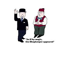 Mr Benn and the Shopkeeper Photographic Print