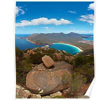 Wineglass Bay and Mount Amos, Freycinet National Park, Tasmania Poster