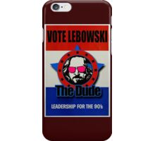 Vote Lebowski iPhone Case/Skin