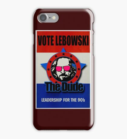 Vote Lebowski iPhone Case/Skin