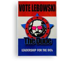 Vote Lebowski Canvas Print