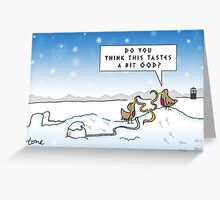 An Ood in Winter Greeting Card