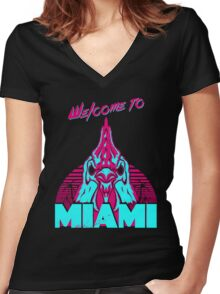 Welcome to Miami - I - Richard Women's Fitted V-Neck T-Shirt