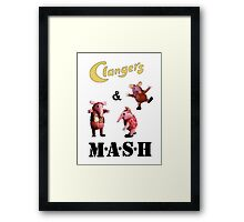 Clangers and M A S H Framed Print