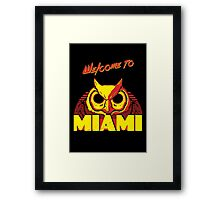 Welcome to Miami - III - Rasmus Framed Print