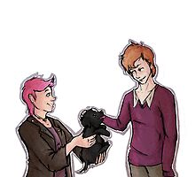 Tonks, Remus, Puppy by srw110