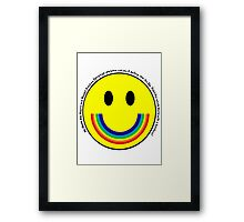 Rainbow Smiley Face Framed Print
