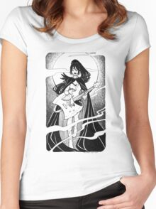 Night of the scream queen Women's Fitted Scoop T-Shirt