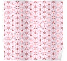 Pink Flower Pattern Poster
