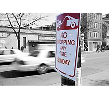 No Stopping Photographic Print