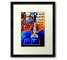 Bible with cross of Jesus  in church in Ireland  Framed Print