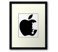 Dalek Apple White  Framed Print