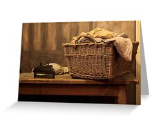 Old style Laundry Greeting Card