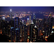 Evening  over Hong  Kong    Photographic Print