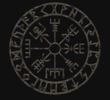 Vegvísir (Icelandic 'sign post') Symbol - black grunge by sleepingmurder