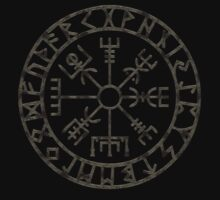 Vegvísir (Icelandic 'sign post') Symbol - black grunge by sleepingmurder
