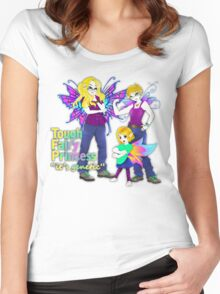 tough fairy princess Women's Fitted Scoop T-Shirt