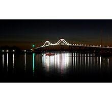 Claiborne Pell Bridge at Night Photographic Print