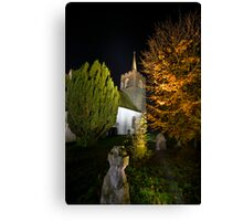 St James' Church at Night Canvas Print