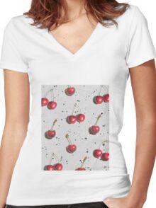fruit 1 Women's Fitted V-Neck T-Shirt
