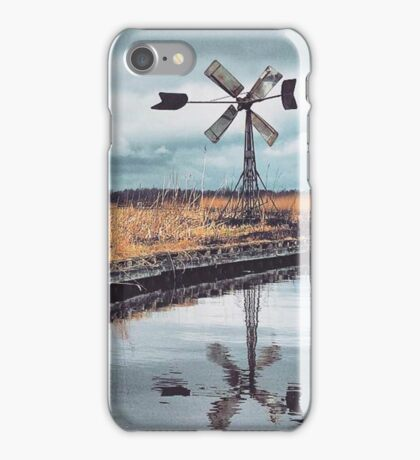 Windmill in the middle of nowhere iPhone Case/Skin