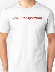 /n/ - Transportation 4chan Logo T-Shirt