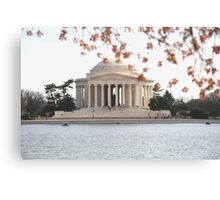 DC Spring - the Jefferson Memorial Canvas Print