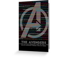 Avengers quotes Greeting Card
