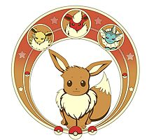 Eevee Nouveau -white- by CoyoDesign