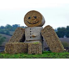 Straw Man Photographic Print