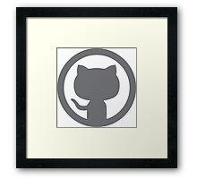 GitHub silhouette Framed Print