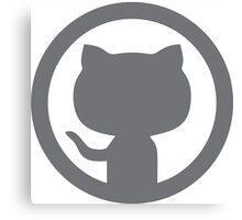 GitHub silhouette Canvas Print