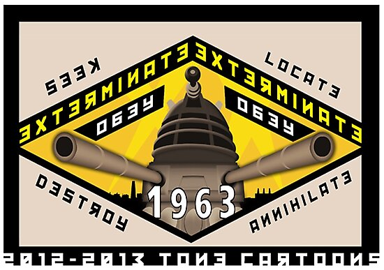 Battleship Dalek 1963 by ToneCartoons