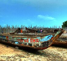 Yoo-Ke-Ene Boat at Tema Harbor, Ghana by Wayne King
