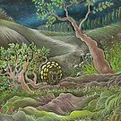 Pattillo Armadillo Finds Mystery Footprints by the Pond by judecowell