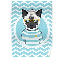 Sailor Cat Poster