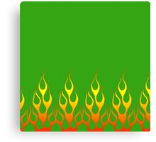 Green Flames Canvas Print