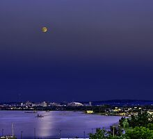 Super Moon Above Syracuse, NY by mkurec