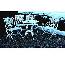 Private  party for four in blue  Photographic Print