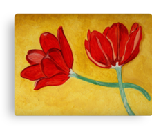 Tulips with Love, Happy Together  Canvas Print